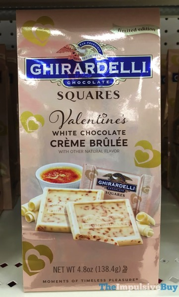 Ghirardelli Limited Edition White Chocolate Creme Brulee Squares