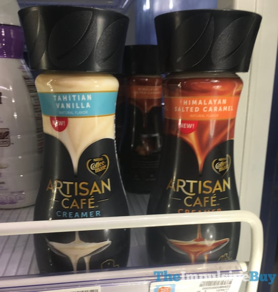 Nestle Coffee mate Artisan Cafe Creamer  Tahitian Vanilla and Himalayan Salted Caramel