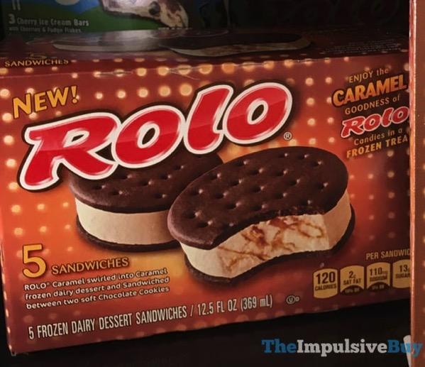 Nestle Rolo Frozen Dairy Dessert Sandwiches