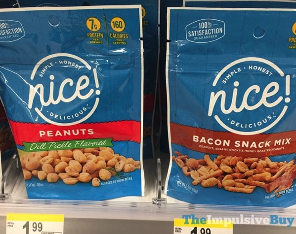 Nice Dill Pickle Peanuts and Bacon Snack Mix
