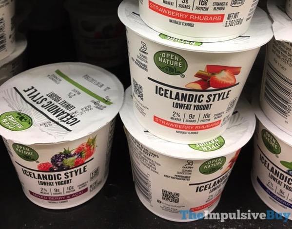 Open Nature Icelandic Style Yogurt  Mixed Berry  Acai and Strawberry Rhubarb