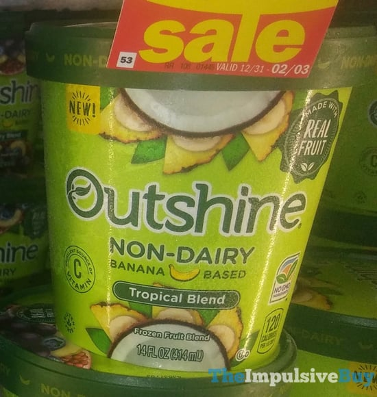 Outshine Non Dairy Banana Based Tropical Blend Frozen Fruit Blend