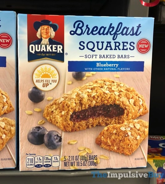 Quaker Blueberry Breakfast Squares Soft Baked Bars
