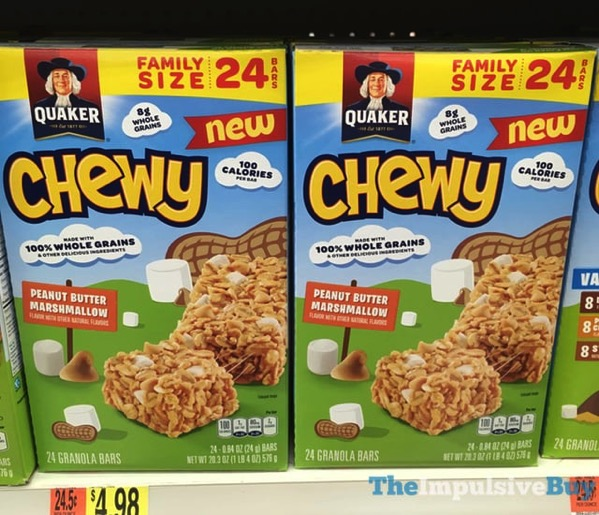 SPOTTED ON SHELVES: Quaker Chewy Peanut Butter Marshmallow ...