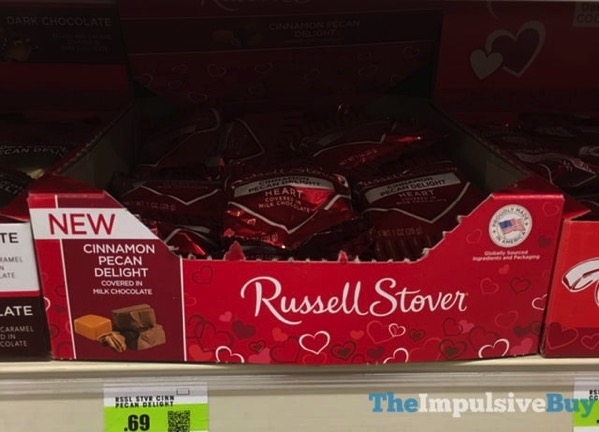 Russell Stover Cinnamon Pecan Delight Milk Chocolate Heart