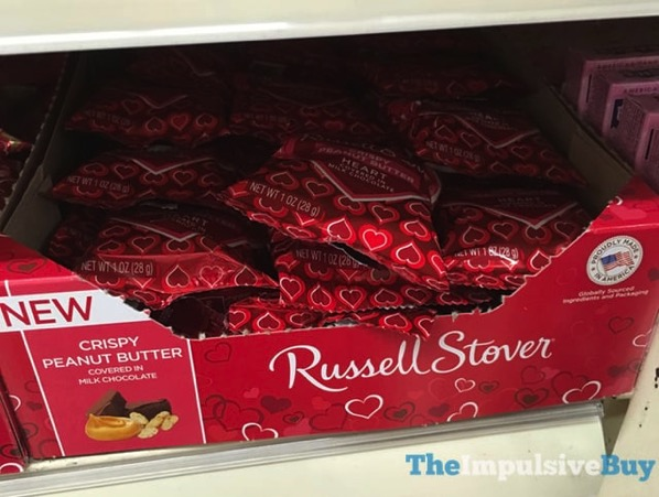 Russell Stover Crispy Peanut Butter Milk Chocolate Heart