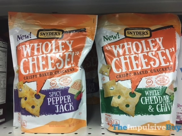 Snyder s of Hanover Wholey Cheese Crispy Baked Crackers  Spicy Pepper Jack and White Cheddar  Chive jpg