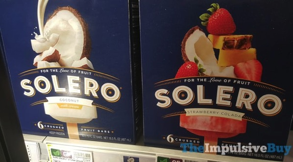 Solero Coconut and Strawberry Colada Fruit Bars