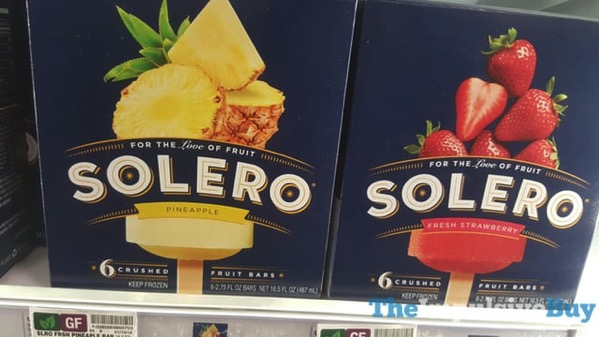 Solero Pineapple and Fresh Strawberry Fruit Bars