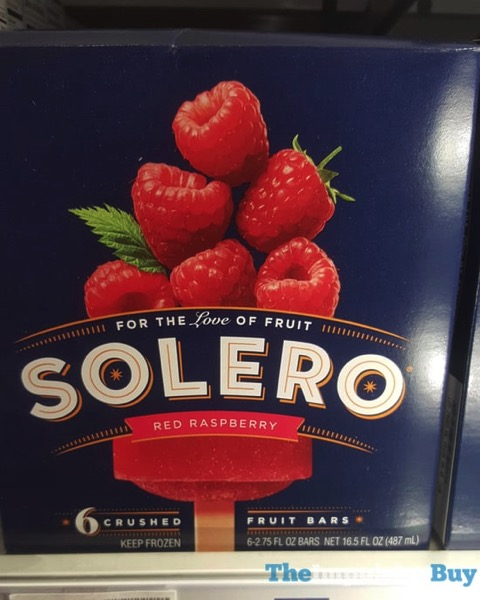 Solero Red Raspberry Fruit Bars