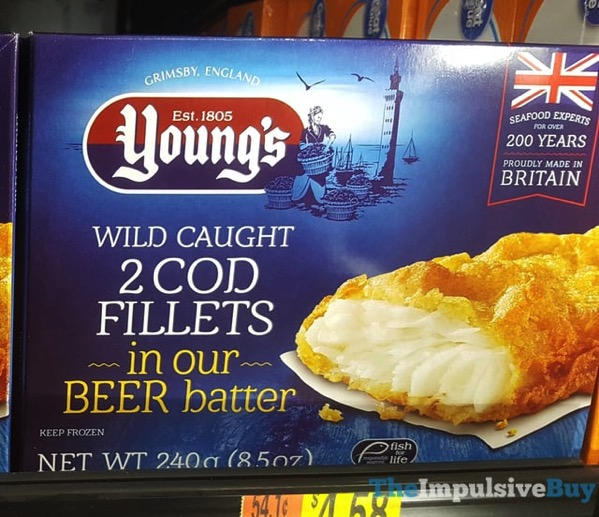 Young s Beer Battered Wild Caught Cod Fillets