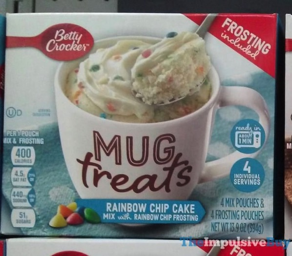 Betty Crocker Rainbow Chip Cake Mug Treats