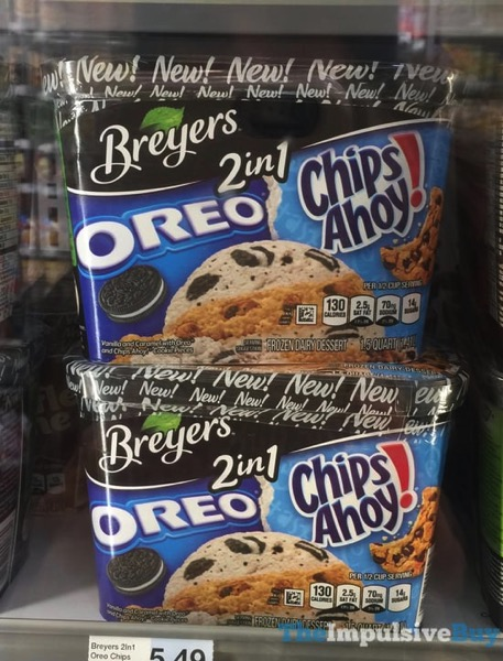 Breyers 2 in 1 Oreo and Chips Ahoy Frozen Dairy Dessert