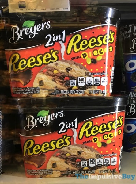 Breyers 2 in 1 Reese s and Reese s Mini Pieces Frozen Dairy Dessert