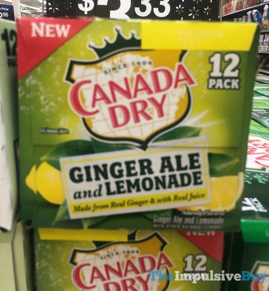 Canada Dry Ginger Ale and Lemonade 12 Pack jpg