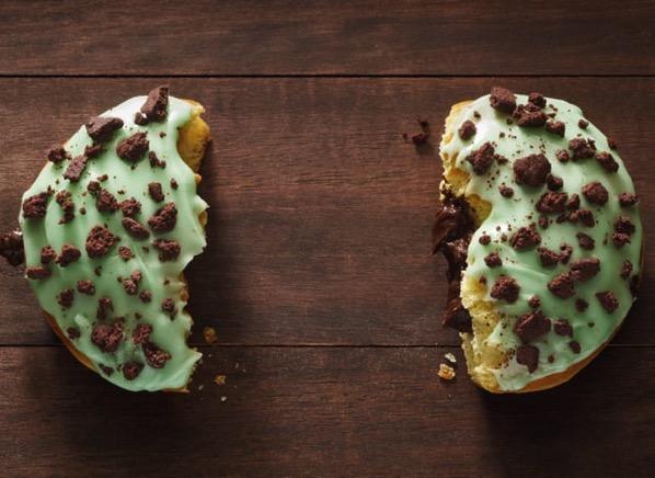 Dunkin Donuts Mint Brownie Donut
