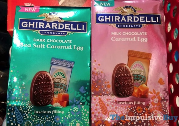 Ghirardelli Dark Chocolate Sea Salt Caramel Egg and Milk Chocolate Caramel Egg