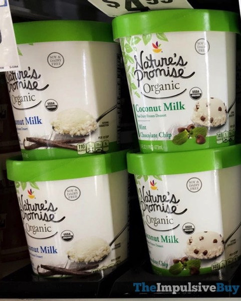 Giant Nature s Promise Organic Non Dairy Frozen Dessert  Vanilla and Mint Chocolate Chip