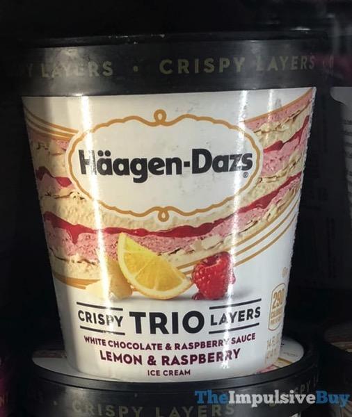 Haagen Dazs Trio Lemon Raspberry White Chocolate Ice Cream