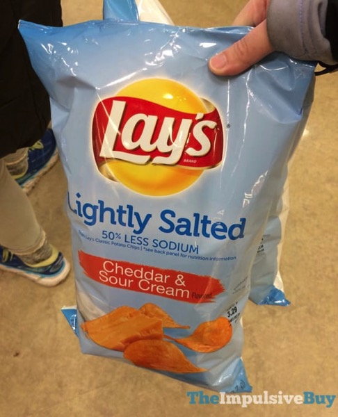 Lay s Lightly Salted Cheddar  Sour Cream Potato Chips