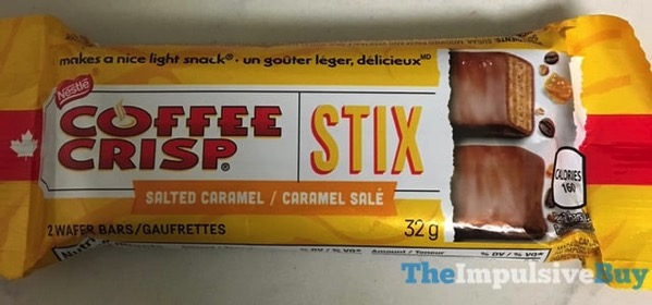 Nestle Coffee Crisp Salted Caramel Stix