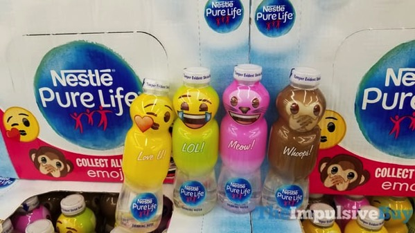 Nestle Pure Life Water Emoji Bottles