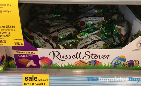 Russell Stover White Pastel Caramel Egg