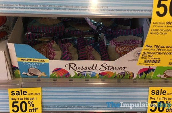 Russell Stover White Pastel Coconut Nest