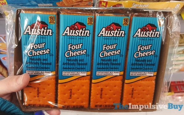 Austin Four Cheese Sandwich Crackers