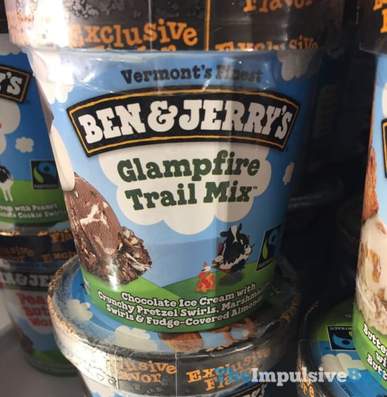 Ben  Jerry s Target Exclusive Flavor Glampfire Trail Mix Ice Cream