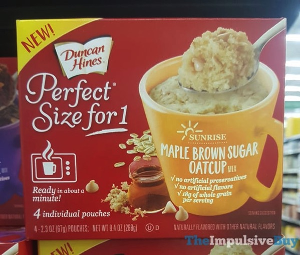 Duncan Hines Perfect Size for 1 Maple Brown Sugar Oatcup