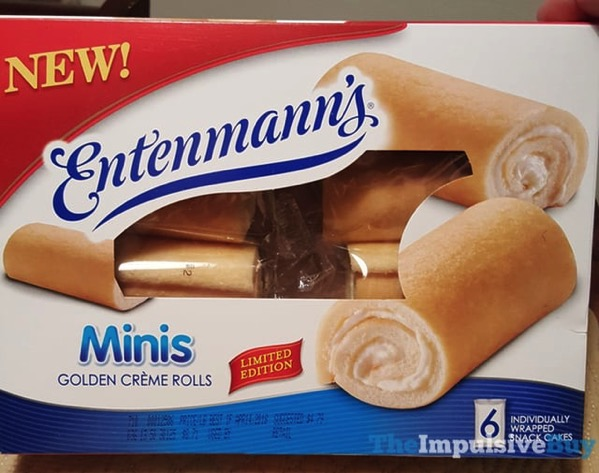 Entenmann s Limited Edition Minis Golden Creme Rolls