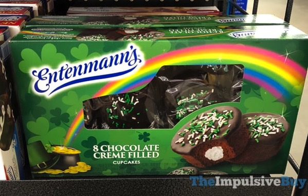 Entenmann s St Patrick s Day Chocolate Creme Filled Cupcakes