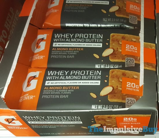 Gatorade Recover Almond Butter Whey Protein with Almond Butter Protein Bar