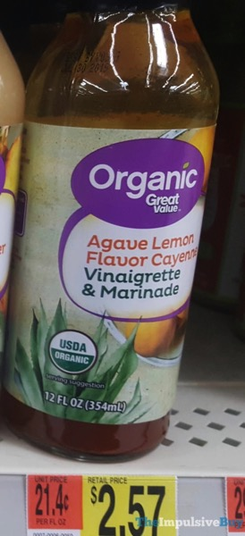 Great Value Organic Agave Lemon Flavor Cayenne Vinaigrette