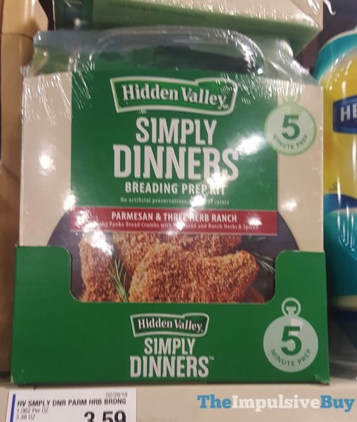 Hidden Valley Parmesan  Three Herb Ranch Simply Dinners Breading Prep Kit