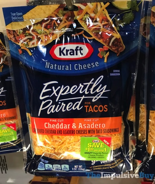 Kraft Expertly Paired for Tacos Cheddar  Asadero