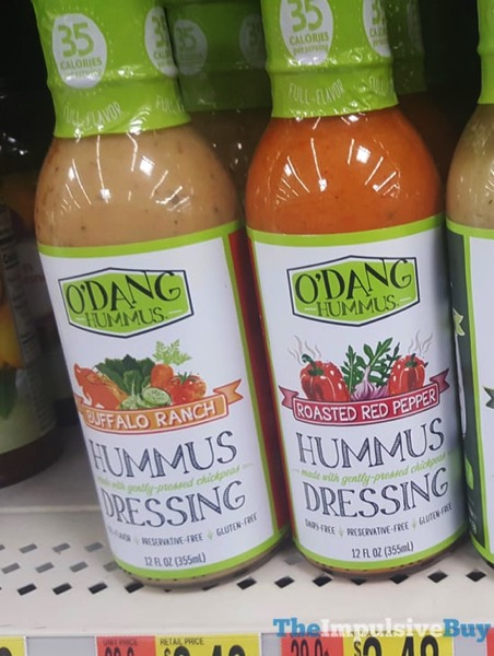 O Dang Hummus Dressing  Buffalo Ranch and Roasted Red Pepper
