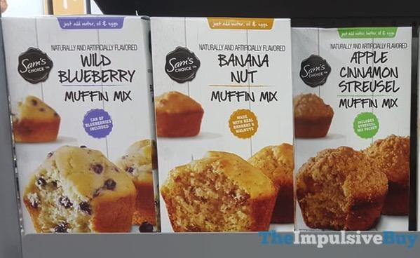 Sam s Choice Muffin Mixes  Wild Blueberry Banana Nut and Apple Cinnamon Streusel