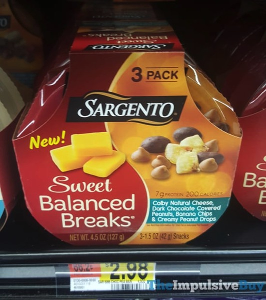 Sargento Sweet Balanced Breaks Colby Cheese Dark Chocolate Covered Peanuts Banana Chips  Creamy Peanut Drops