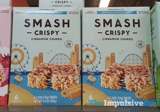 SmashMallow SmashCrispy Cinnamon Churro Marshmallow Rice Treats