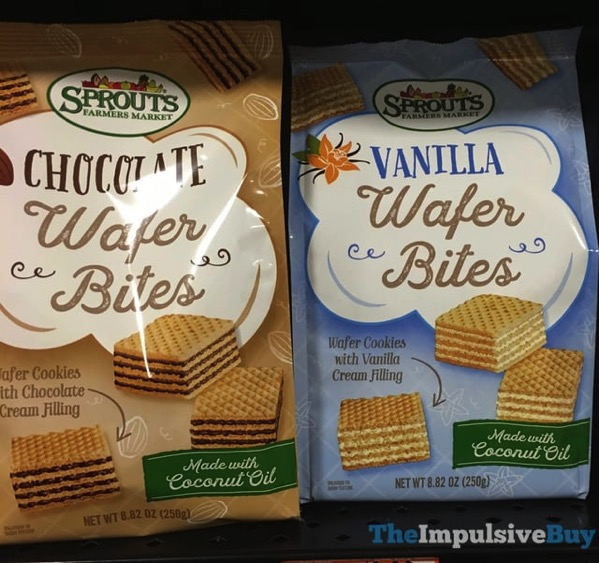 Sprouts Chocolate Wafer Bites and Vanilla Wafer Bites