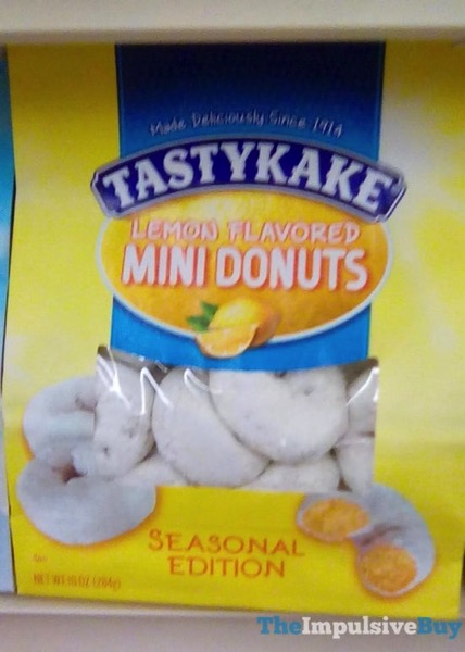 Tastykake Seasonal Edition Lemon Mini Donuts