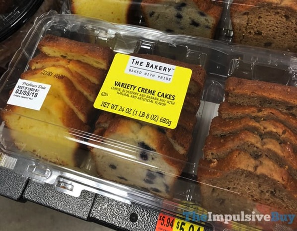 The Bakery Variety Creme Cakes  Lemon Blueberry and Banana Nut