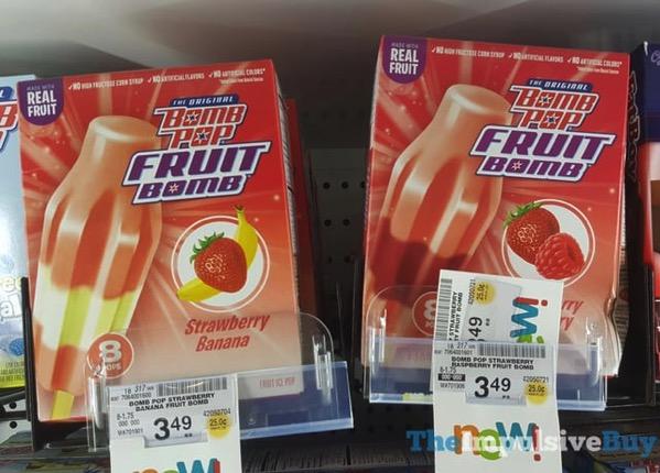 The Original Bomb Pop Fruit Bomb  Strawberry Banana and Strawberry Raspberry