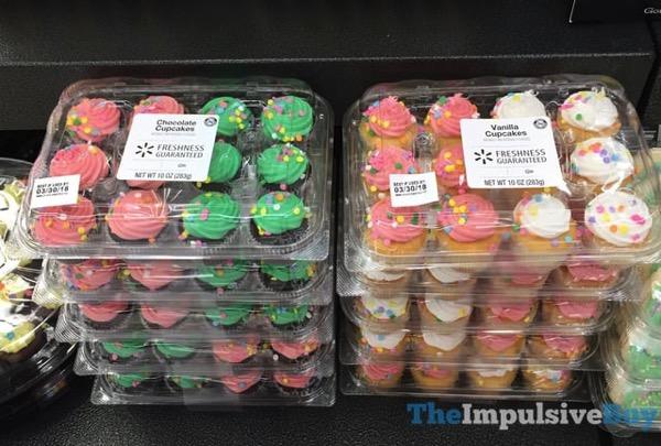 Walmart Spring Chocolate Cupcakes and Vanilla Cupcakes