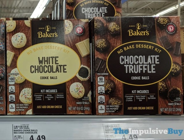 Baker s Cookie Balls No Bake Dessert Kits  White Chocolate and Chocolate Truffle
