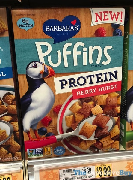 Barbara s Puffins Protein Berry Burst Cereal