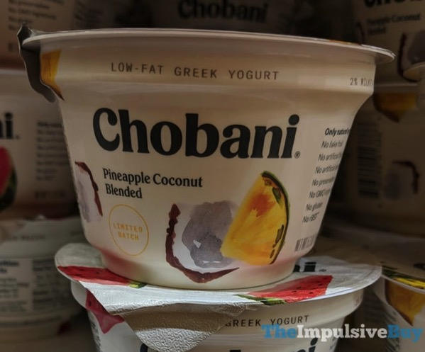 Chobani Pineapple Coconut Low Fat Greek Yogurt