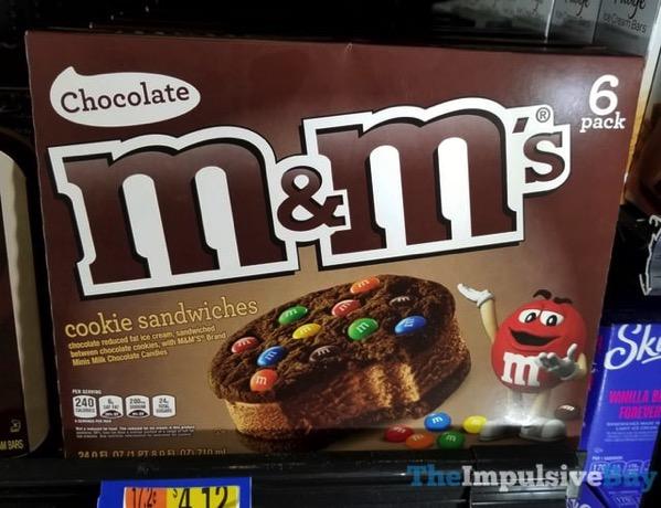 Chocolate M M s Ice Cream Cookie Sandwiches